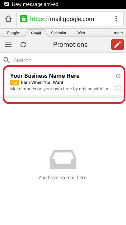 gmail ads adwords